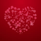 Red Valentine holiday background with hearts Royalty Free Stock Image