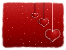 Red Valentine Night Stock Image