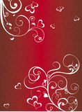 Red Valentine's background Stock Images