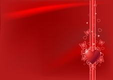 Red Valentine's day background Stock Photography
