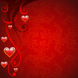 Red Valentine's day background Stock Images