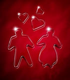 Red Valentine's day background Royalty Free Stock Image