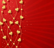 Red Valentine's day background Royalty Free Stock Photos
