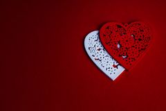 Red Valentine's Day background with heart Royalty Free Stock Photo