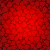 Red Valentine's day background with hearts. EPS 8 Royalty Free Stock Photos
