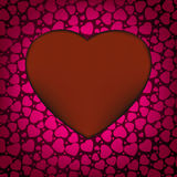 Red Valentine's day background with hearts. EPS 8 Stock Image