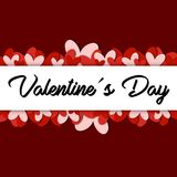 Red Valentine´s day Background / vector Royalty Free Stock Photography
