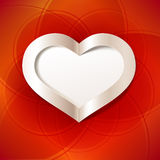 Red Valentine's Day background with white heart. Editable blend options. Stock Images