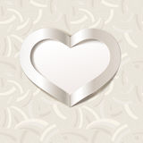 Red Valentine's Day background with white heart. Editable blend options. Stock Photos
