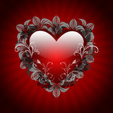 Red Valentine's Day Card Royalty Free Stock Photo