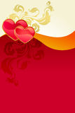 Red valentine's day card stock illustration