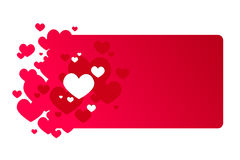 Red valentine's day frame. With small hearts Stock Photography