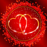 Red Valentine S Day Greeting Card Stock Photo