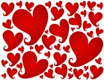 Red Valentine's Day Hearts Background Pattern Royalty Free Stock Photo