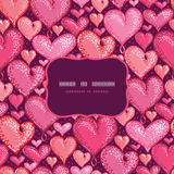 Red Valentine's Day Hearts Frame Seamless Pattern Royalty Free Stock Image