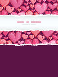 Red Valentine's Day Hearts Vertical Torn Frame Royalty Free Stock Image