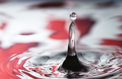 Red Valentine water drop Royalty Free Stock Photo