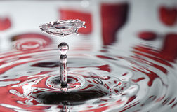 Red Valentine water drop Stock Photos