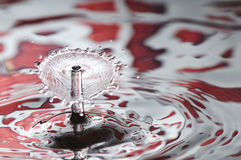 Red Valentine water drop Stock Photo