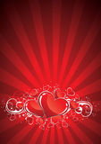 Red Valentines Background Stock Photography