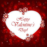 Red Valentines background with heart Stock Image