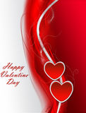 Red valentines background with hearts. Royalty Free Stock Images
