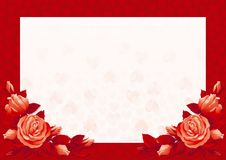 Red valentines card Stock Photography