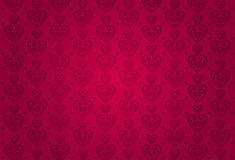 Red valentines card background Royalty Free Stock Image