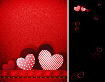 Red Valentines day background Stock Photos