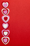 Red Valentines day background with hearts Royalty Free Stock Photo