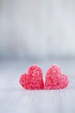 Red Valentines Day Candy Hearts Vertical Royalty Free Stock Image