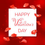 Red Valentines Day card Royalty Free Stock Images