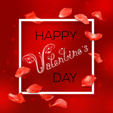 Red Valentines Day card Stock Photo
