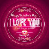 Red valentines day greeting card  with  hearts and Royalty Free Stock Photo