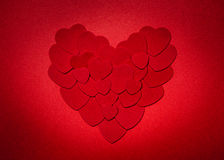 Red Valentines day heart Royalty Free Stock Image