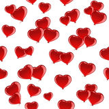 Red Valentines heart seamless background Royalty Free Stock Images