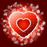 Red valentines heart with sparkles Royalty Free Stock Photo