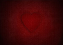 Red valentines heart on victorian wallpaper background, illustration for mothers day Stock Photo