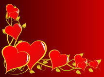 Red Valentines Hearts Background Stock Photography