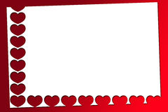Red valentines hearts. Beautiful red Valentines hearts on a white background Royalty Free Stock Photos