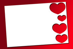 Red valentines hearts. Beautiful red Valentines hearts on a white background Royalty Free Stock Image