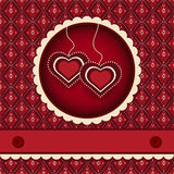 Red valentines scrapbook heart  background Stock Image