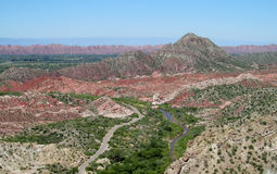 Red valley landscape Royalty Free Stock Photography