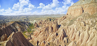 Red valley and rocks    in Cappadocia Stock Photos