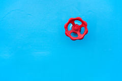 Red valve Stock Image