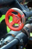 Red valve Stock Images