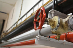 Red valve Stock Photography