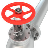 Red valve Royalty Free Stock Photo