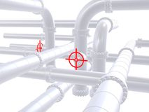 Red valve. 3d rendered illustration of a red valve Royalty Free Stock Images