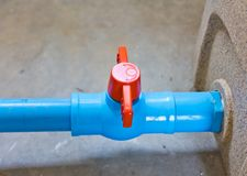 The red valve Stock Photography